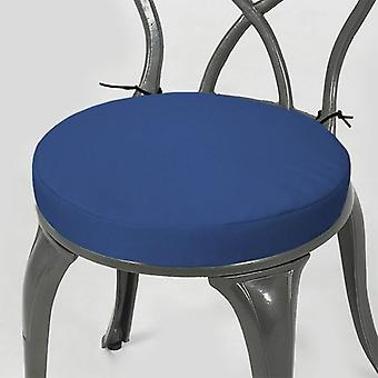 """Gardenista® blue water resistant 15 """"ronde Bistro stoel zitkussen, pak van 6"""