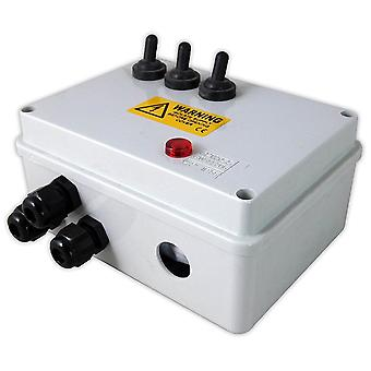 Lotus Weatherproof 3 Way Armoured Switch Box