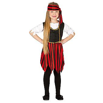 Meisjes Sassy Pirate fancy dress kostuum