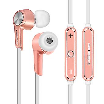 Auriculares intrauditivos Bluetooth magnético HD Audio Akashi-oro rosa