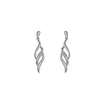 Evigheden sterling sølv kubisk zirconia flamme drop øreringe