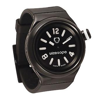 Wize and Ope Classic  Black Shuttle Watch SH-ALL-2