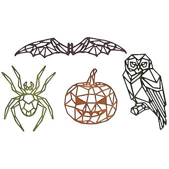 Sizzix Thinlits Die Set Geo Halloween Set of 4 par Tim Holtz
