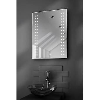 Doubleline Ultra-Slim spiegel met klok, ontwasemer & Sensor k186
