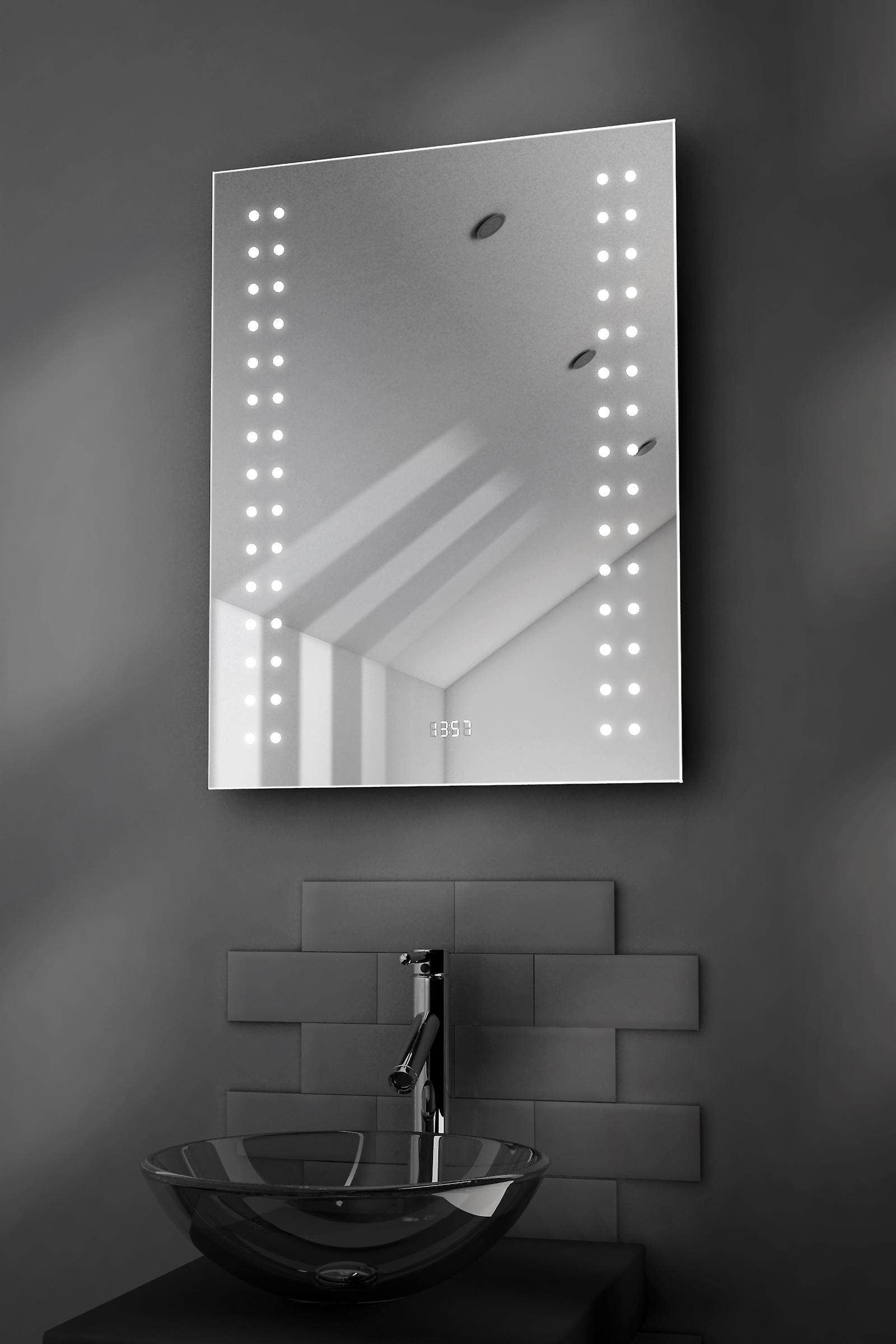 Doubleline Ultra-Slim Mirror With Clock, Demister & Sensor k186