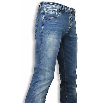 جينز - سليم فيت جينز عادي - أزرق