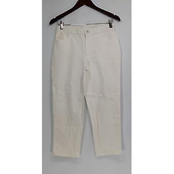Isaac Mizrahi Live! Regular 24/7 Stretch 5 Pantalones Pkt Blanco