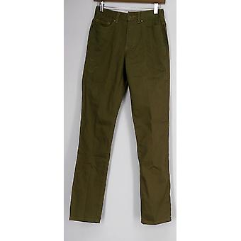 Femmes avec pantalon de contrôle My Wonder Top Stitch Stretch Green A236123