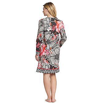 Féraud 3191010-10005 Mujeres's Couture Negro Multicolor Algodón Noche Vestido Nightdress