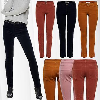 JDY Womens Corduroy Pants Skinny Jeans Normal Waist JDYERA W27-W32 Only L30 L32