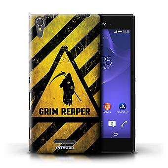STUFF4 Case/Cover for Sony Xperia T3/Death/Reaper/Hazard Warning Signs