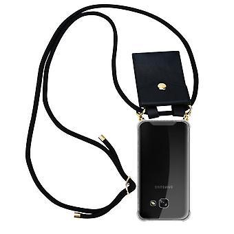 Cadorabo telefonkæde sag til Samsung Galaxy a3 2017 sag Cover-halskæde silikone skuldertaske med snor bånd ledning og flytbare etui Cover taske
