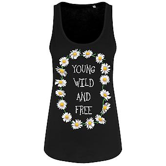 Grindstore Young Wild & Free Ladies Floaty Tank