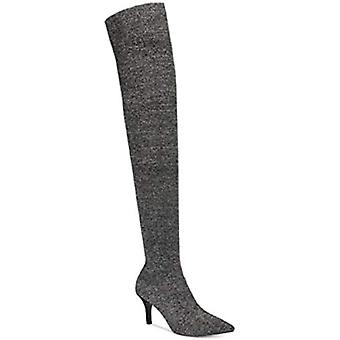 INC International Concepts Womens Pewter Fabric Pointed Toe Over Knee Fashion...