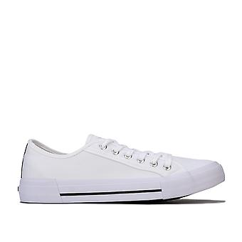 Mens Nicce Kansas Low Trainers In White- Lace Fastening- Cushioned Insole-