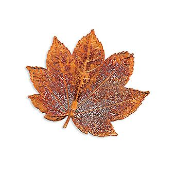 Iridescent Copper Dipped Gift Boxed Full Celestial Moon Maple Leaf Pin Jewelry Gifts for Women