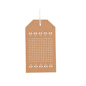 24 Embroidery Cross Stitch Kraft Tags & Twine - Advent Calendar Crafts