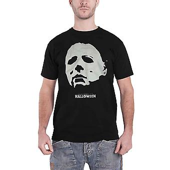 Halloween T Shirt Michael Face Horror Movie Logo new Official Mens Black