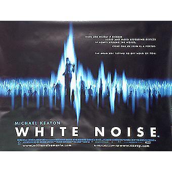 Valkoinen melu (yksipuolinen) alkuperäinen elokuva teatteri juliste