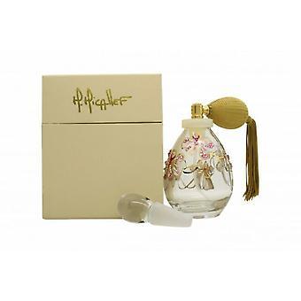 M. Micallef Crystal handgeschilderde bloemen hervulbare geur fles 75ml spray-leeg
