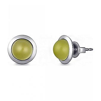 Quinn - Silver stud earrings with lemon quartz - 036838948