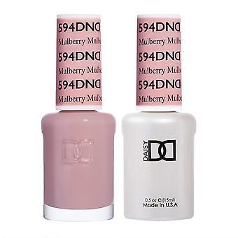 DND Duo Gel & Nail Polish Set - Mulberry 594 - 2x15ml