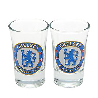 Chelsea FC Crest Shot Glass Set (Pack de 2)
