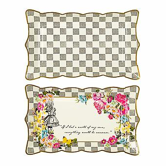 Alice in Wonderland Card Party Food Platter x 4 Wedding / Party
