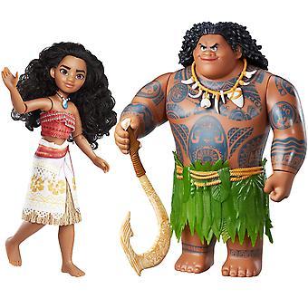 2-pack Disney Vaiana/Moana Maui de halfgod pop/figuur