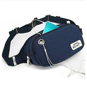 Nieuwe Unisex retro Fashion canvas riem/taille/bum Bag Fanny Pack