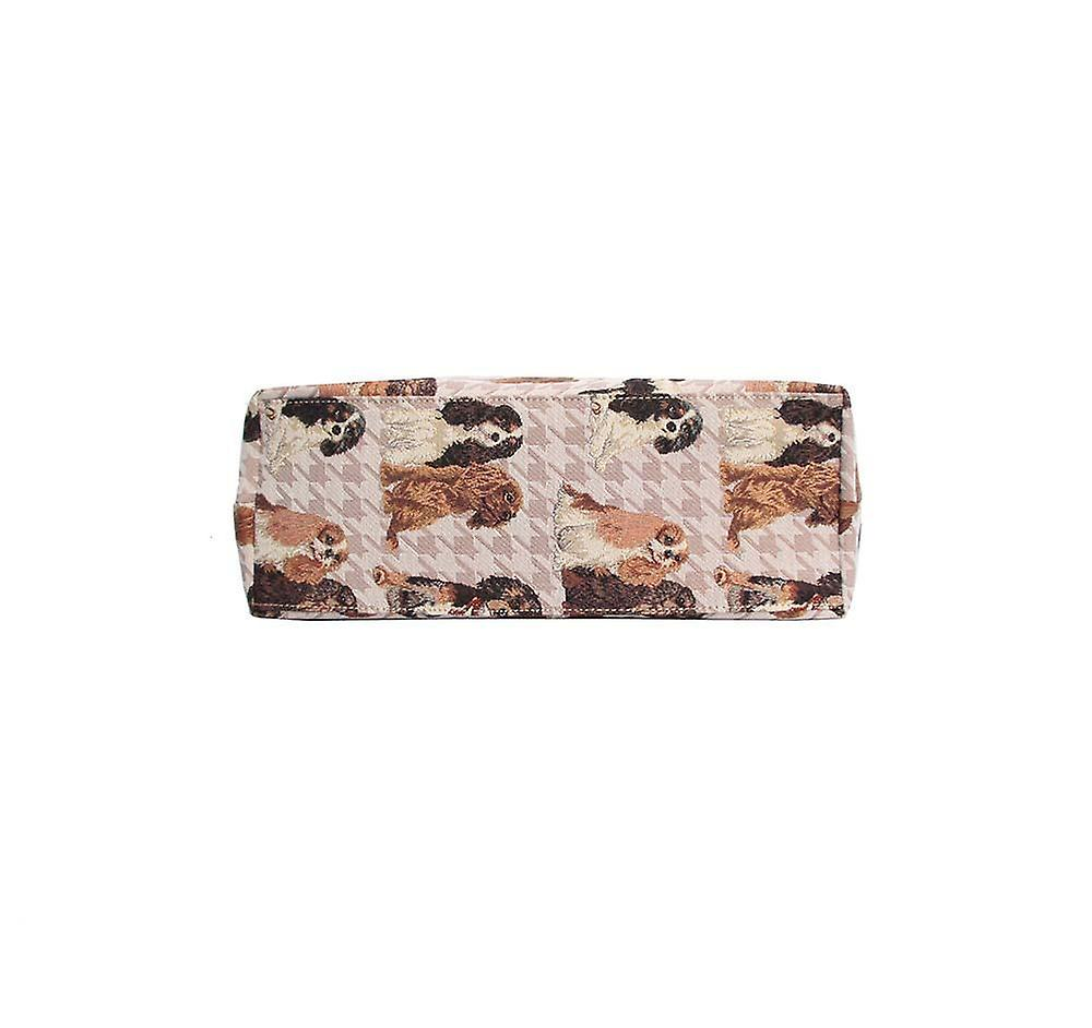 Cavalier king charles spaniel shoulder hobo bag by signare tapestry / hobo-kgcs