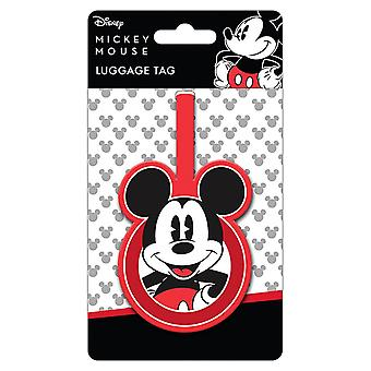 Retro Mickey Mouse rubber bagagelabel
