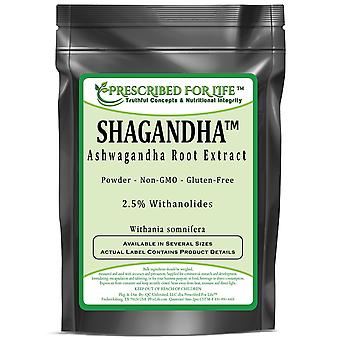 Shagandha (TM)-Ashwagandha root Extract-2,5% Withanolides by Sabinsa (Withania somnifera)