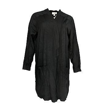 Belle by Kim Gravel Women's Plus Sweater Knit Cardigan Black A309908