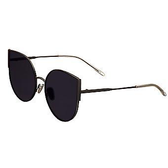 Bertha Logan Polarized Sunglasses - Black/Black