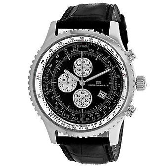 Oceanaut Men's Schwarze Zifferblatt Uhr - OC0311