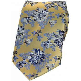 Posh and Dandy Flowers Silk Tie - Maroon/Gold