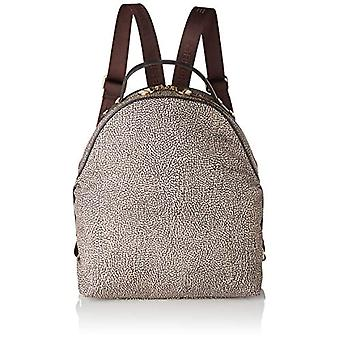 Borbonese Backpack Medium Brown Woman (Op Classico/Brown) 27x32x15.5 cm (W x H x L)