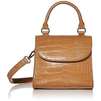 The Drop Diana Shoulder Bag with Top Handle by Woman Color Camel
