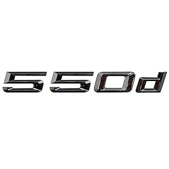 Silver Chrome BMW 550d Car Model Rear Boot Number Letter Sticker Decal Badge Emblem For 5 Series E93 E60 E61 F10 F11 F07 F18 G30 G31 G38
