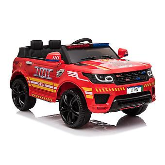 Kids Electric Car Fire Brigade RR002 LED Lights Siren MP3 USB Remote Control