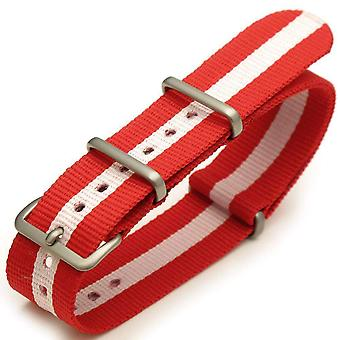 Strapcode n.a.t.o ساعة حزام 20mm فرشاة - j14 الأحمر الوردي (النمسا، كندا، demark، اليابان، لاتفيا، مالطا، موناكو، بولندا، سويسرا)