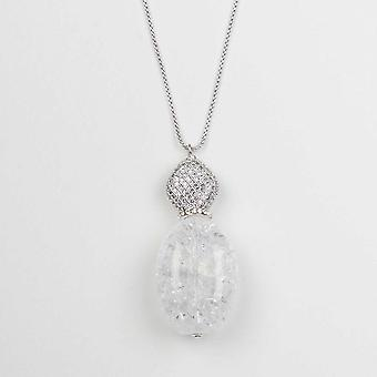 Nour London Clear Pendant Long Necklace