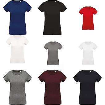 Kariban Womens/damer organiska Crew Neck T-Shirt