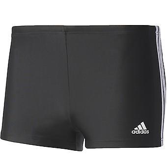 adidas Performance Mens 3 Stripes Swimming Summer Beach Swim Shorts - Black