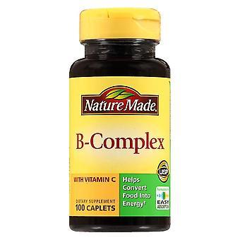 Nature made b-complex with vitamin c, caplets, 100 ea