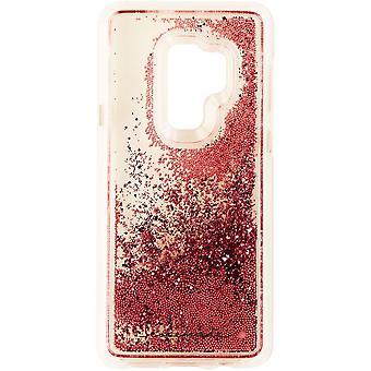 Case-Mate vattenfall Case för Samsung Galaxy S9 + (plus)-Clear/Pink glitter