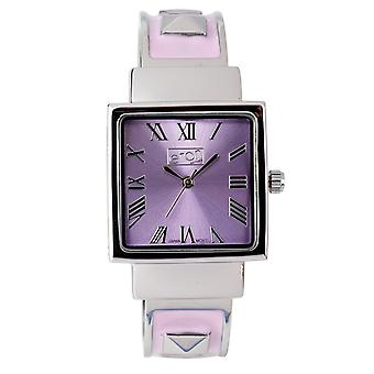 Eton Womens Lilac Fashion Watch, Clip on Bangle, studs on bracelet - 3145L-LC