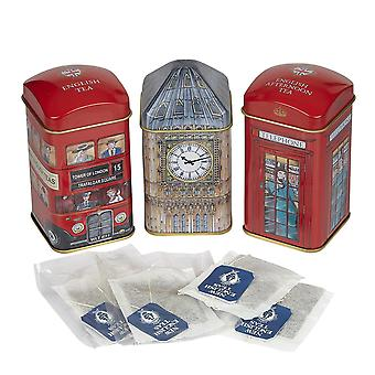 Heritage tea selection triple tea tins 28 teabag gift pack big ben