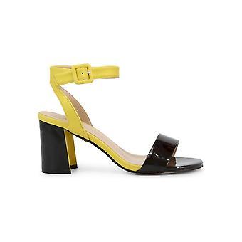 Laura Biagiotti - sko - sandal - 6300_PATENT_BLACK - damer - sort, gul - EU 41